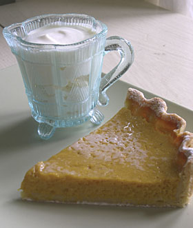 PUMPKIN PIE AND GINGER CREAM
