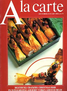 a la carte magazine cover circa 1985