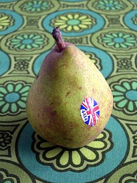 A British Comice pear