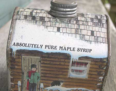 a tin of maple syrup