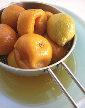 poached Seville oranges