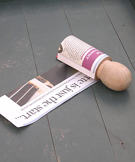 step one roll the newspaper
