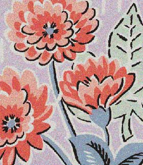 zinnia textile print from The Laundry