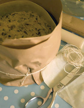 Baking the Christmas cake, November 2008