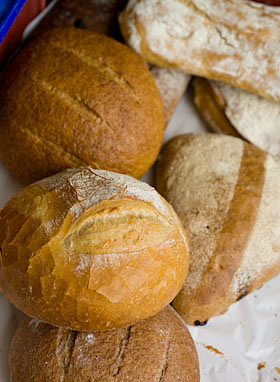 Artisan breads from La Bodega