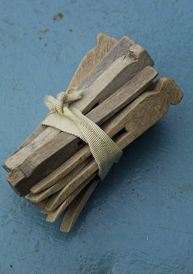 old wooden dolly pegs