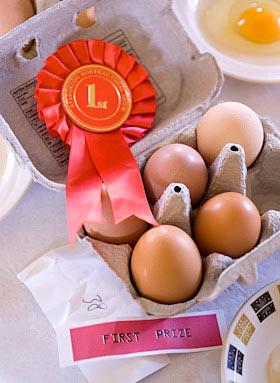 prize winning eggs