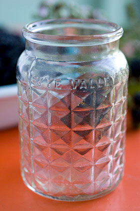 an old jam jar