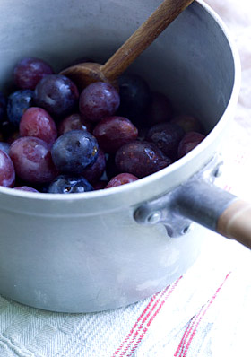 cooking damsons and plums