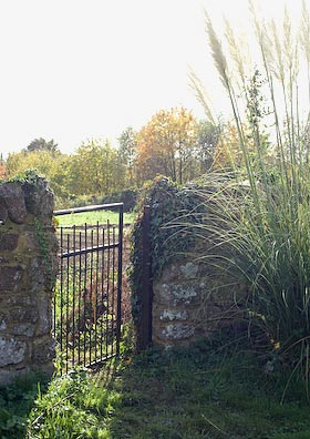 the gate to the allotment site