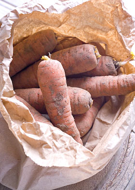 a bag of carrots for the canjam